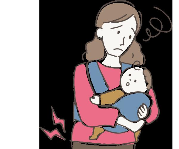 母乳の出が悪い・気になる 産後の腰痛 眠りが浅い